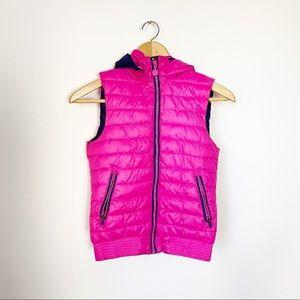 H&M Sport Kids Neon Pink Puffer Vest 8-9Y
